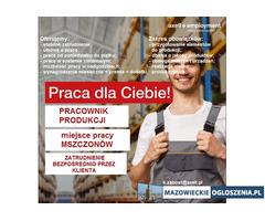 Pracownik Produkcji - Mszczonów