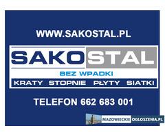Kraty pomostowe Mostostal, stopnie schodowe na wymiar Warszawa